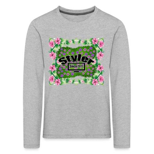 Styler Bloemen Design - Kinderen Premium shirt met lange mouwen