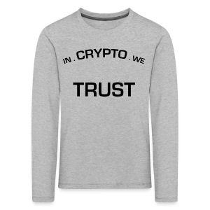 In Crypto we trust - Kinderen Premium shirt met lange mouwen