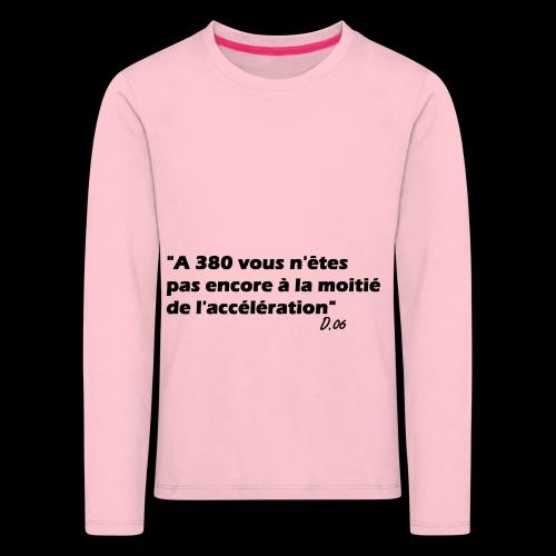 380 noir - T-shirt manches longues Premium Enfant