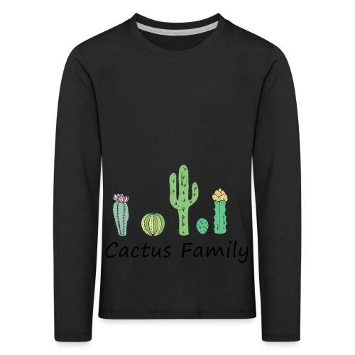 Cactus family - Kinder Premium Langarmshirt