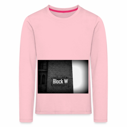 Original Artist design * Block W - Kids' Premium Longsleeve Shirt