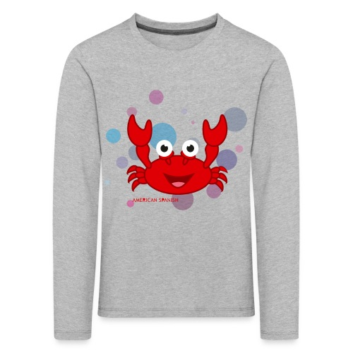 American spanish cangrejo - Camiseta de manga larga premium niño
