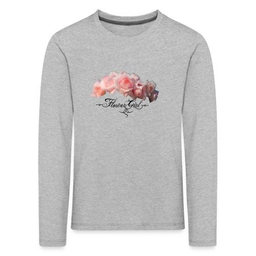 flower girl - Børne premium T-shirt med lange ærmer