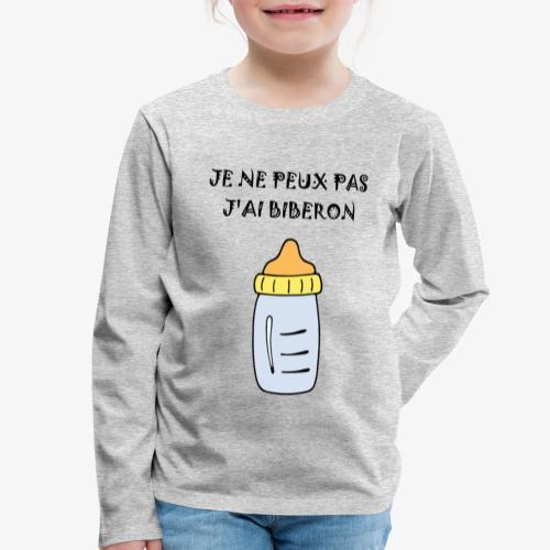 biberon 2 - T-shirt manches longues Premium Enfant