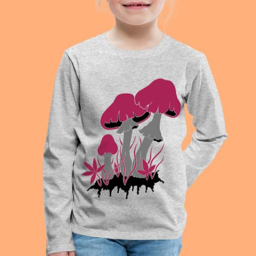 champignons - T-shirt manches longues Premium Enfant