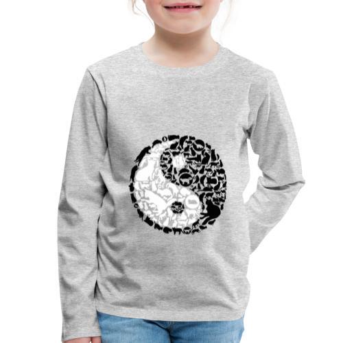 YinYang Cats - Kinder Premium Langarmshirt