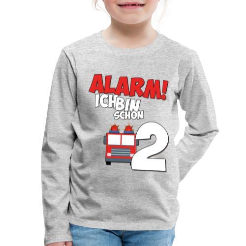 Feuerwehrauto 2. Geburtstag Jungen 2 Jahre - Kinder Premium Langarmshirt