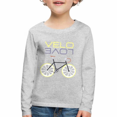 Lemon Bike - Velo Love Shirt Rennradfahrer Shirt - Kinder Premium Langarmshirt