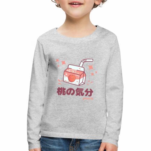 Kawaii Peach Mood Shirt - Kinder Premium Langarmshirt
