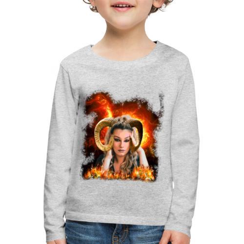 Widder Lady - Kinder Premium Langarmshirt
