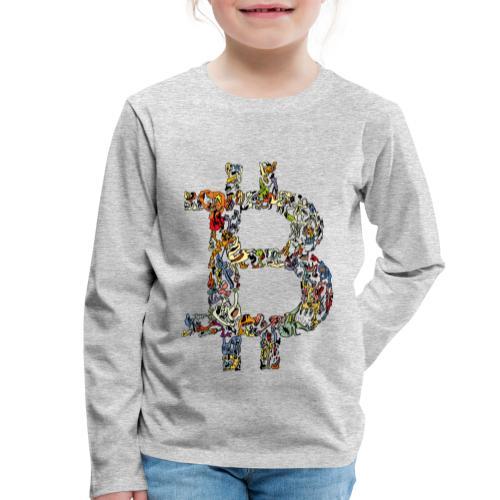 BITCOIN logo color - Kinderen Premium shirt met lange mouwen