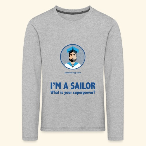 SeaProof Superpower - Kinder Premium Langarmshirt