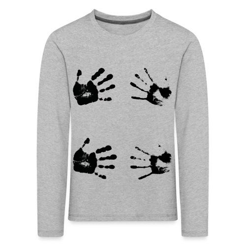 Schwarze Handabdrücke. Geschenk - Maglietta Premium a manica lunga per bambini