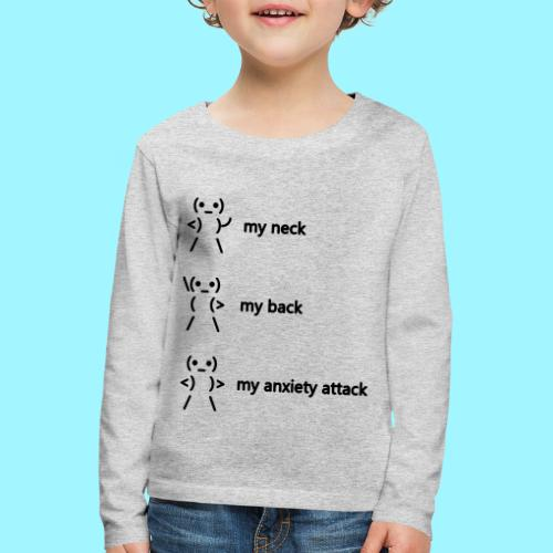 neck back anxiety attack - Kids' Premium Longsleeve Shirt