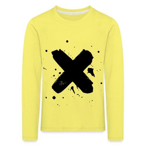 X musta - Lasten premium pitkähihainen t-paita