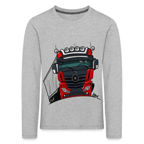 0807 M truck zwart rood - Kinderen Premium shirt met lange mouwen
