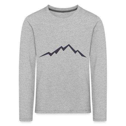 swiss alps clipart sihllouette ski mountains - Kinderen Premium shirt met lange mouwen
