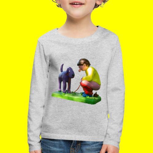 Mannetje Poep vrijstaand - Kinderen Premium shirt met lange mouwen