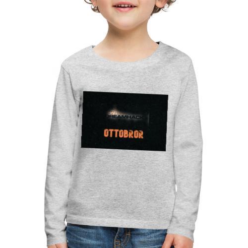 svart granit polerad - Långärmad premium-T-shirt barn