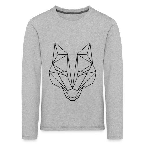 Wolf Blacklined - Kinder Premium Langarmshirt