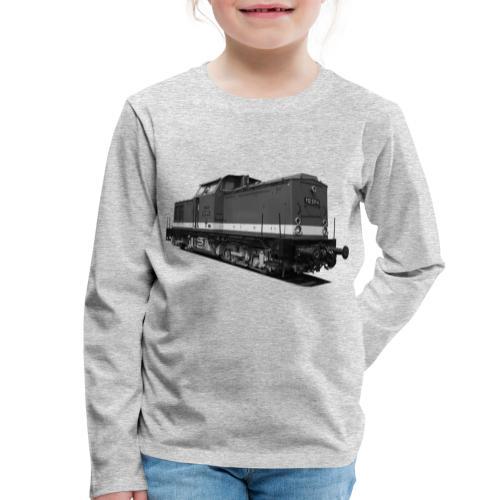 Lokomotive V 100 Diesel Deutsche Reichsbahn DDR - Kinder Premium Langarmshirt