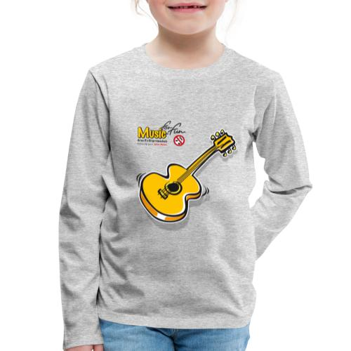 MusicForFun - heller Hintergrund - Kinder Premium Langarmshirt