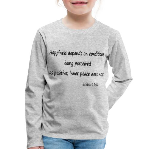 Happiness - Kids' Premium Longsleeve Shirt