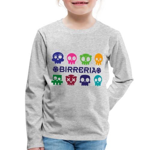 Kids color Skulls - Kinder Premium Langarmshirt