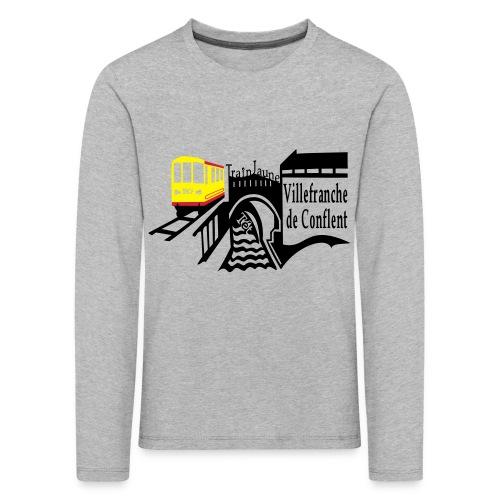 train jaune villefranche de conflent - Kinder Premium Langarmshirt