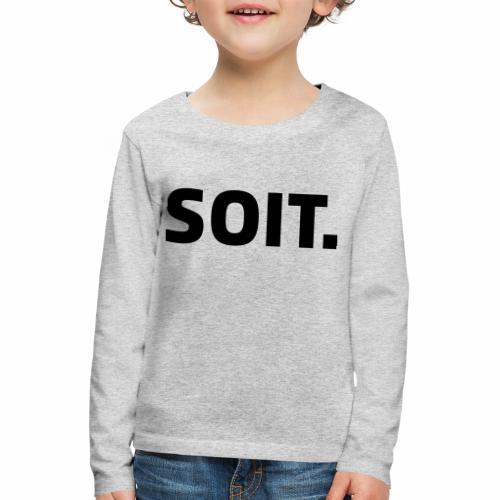 SOIT - Kinderen Premium shirt met lange mouwen