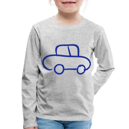 Van Line Drawing Pixellamb - Kinder Premium Langarmshirt