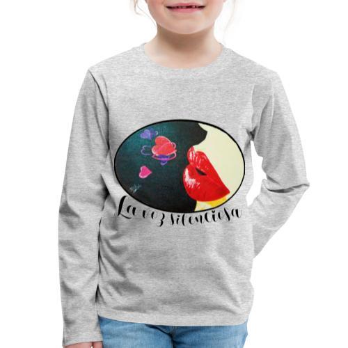 La Voz Silenciosa - Besos - Camiseta de manga larga premium niño