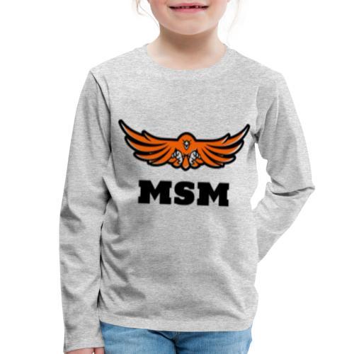 MSM EAGLE - Børne premium T-shirt med lange ærmer