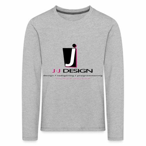LOGO_J-J_DESIGN_FULL_for_ - Børne premium T-shirt med lange ærmer