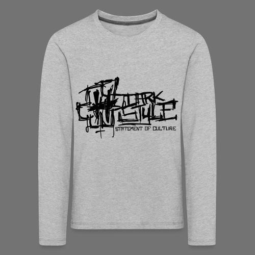 Tumma Style - Statement of Culture (musta) - Lasten premium pitkähihainen t-paita