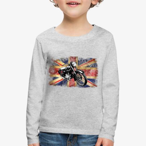 Vintage famous Brittish BSA motorcycle icon - Kids' Premium Longsleeve Shirt