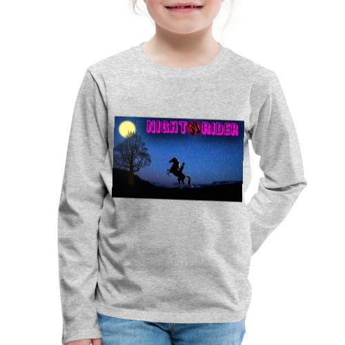 nightrider merch - Børne premium T-shirt med lange ærmer