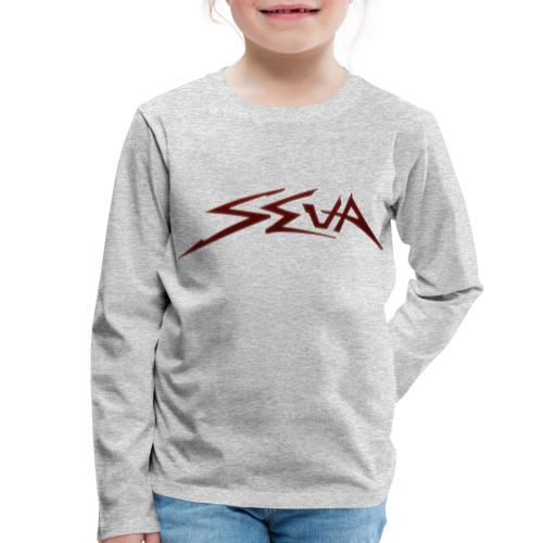 SEUA logo Speedy red - Långärmad premium-T-shirt barn