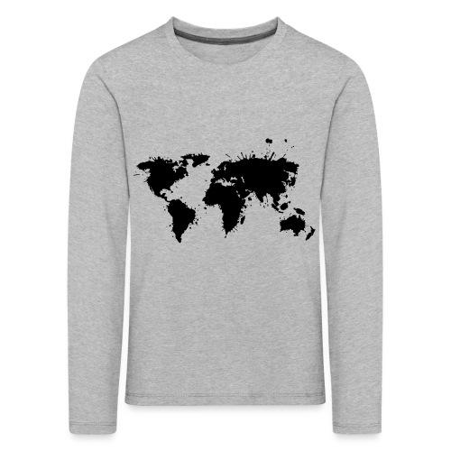 Weltkarte Splash - Kinder Premium Langarmshirt