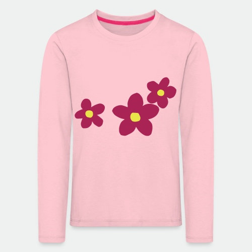 Three Flowers - Kids' Premium Longsleeve Shirt