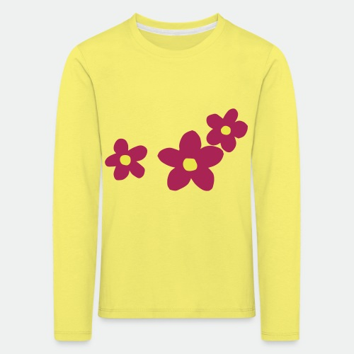 Three Flowers - Kids' Premium Longsleeve Shirt