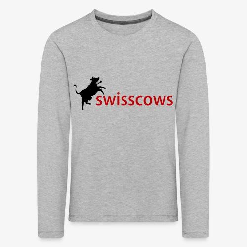 Swisscows Logo - Kinder Premium Langarmshirt