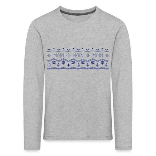 Muster Nordisch Maritim - Kinder Premium Langarmshirt