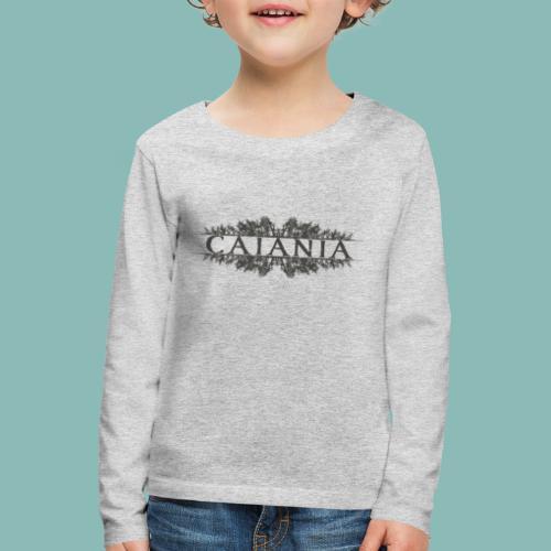 Caiania-logo harmaa - Lasten premium pitkähihainen t-paita