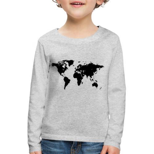World Map - Kinder Premium Langarmshirt