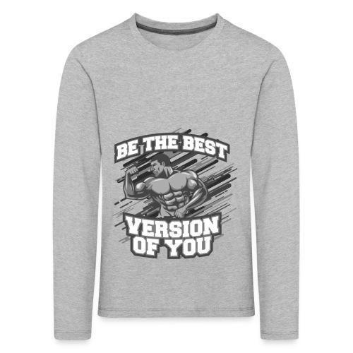a0afcf0f6e3 Den bedste version af DIG Fitness Gym Tøj - Børne premium T-shirt med lange