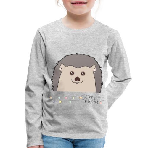 Hed wünscht Merry Christmas - Kinder Premium Langarmshirt