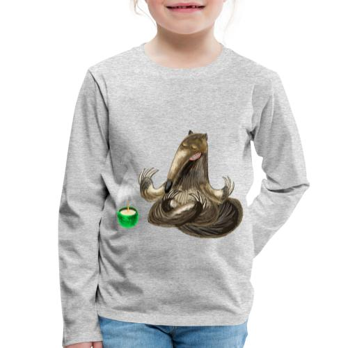 Meditating Ant eater design / print - Kids' Premium Longsleeve Shirt