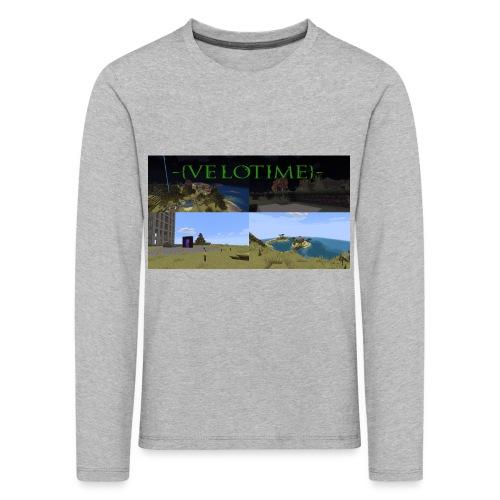 Velotime! - Långärmad premium-T-shirt barn