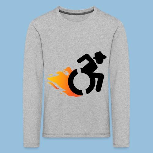 Roller met vlammen 016 - Kinderen Premium shirt met lange mouwen